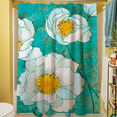 Manual Woodworkers & Weavers Flower Field Shower Curtain