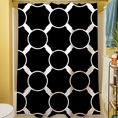Manual Woodworkers & Weavers Band Shower Curtain; Black