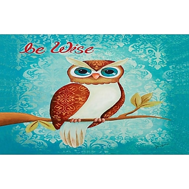 Manual Woodworkers & Weavers Be Wise Blue Area Rug; 5'10'' x 4'4''