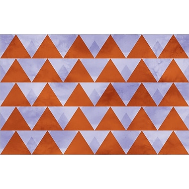 Manual Woodworkers & Weavers Triangles Multi Rug; 5'10'' x 4'4''