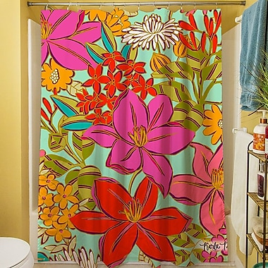Manual Woodworkers & Weavers Main Mint Shower Curtain