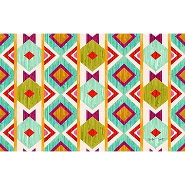 Manual Woodworkers & Weavers Ikat Area Rug; 3'1'' x 1'10.5''