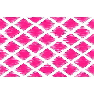 Manual Woodworkers & Weavers Diamonds Pink Area Rug; 3'1'' x 1'10.5''