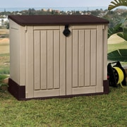 Keter Store-It-Out MIDI 4.25 ft. W x 2.42 ft. D Plastic Horizontal Garbage Shed