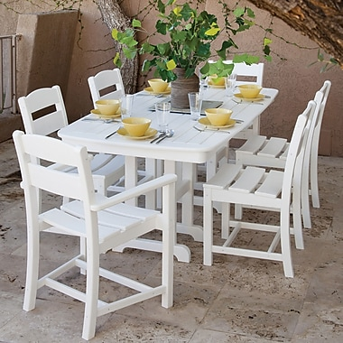 Ivy Terrace Ivy Terrace 7 Piece Dining Set; White