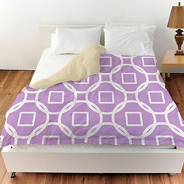 Manual Woodworkers & Weavers Modern Geometric Lavender Duvet Cover; Twin