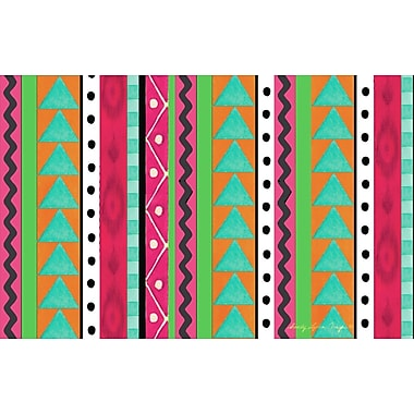 Manual Woodworkers & Weavers Boho Medallion Square Pink/Green Area Rug; 3'1'' x 1'10.5''