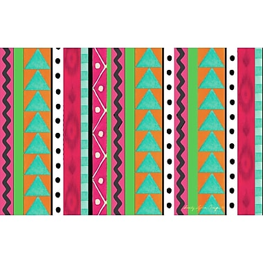 Manual Woodworkers & Weavers Boho Medallion Square Pink/Green Area Rug; 5'10'' x 4'4''