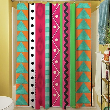 Manual Woodworkers & Weavers Boho Medallion Square Shower Curtain