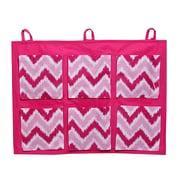 Bacati Mix N Match Zig Zag Crib Storage Organizer; Pink