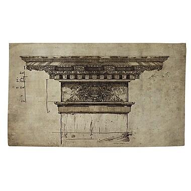 Manual Woodworkers & Weavers Column I Beige Area Rug; 4' x 6'