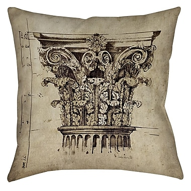 Manual Woodworkers & Weavers Column II Printed Throw Pillow; 16'' H x 16'' W x 4'' D