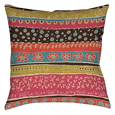Manual Woodworkers & Weavers Dream Big Bohemian Printed Throw Pillow; 16'' H x 16'' W x 4'' D