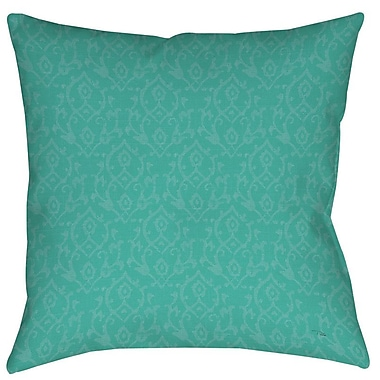 Manual Woodworkers & Weavers Flowing Damask Printed Throw Pillow; 14'' H x 14'' W x 3'' D