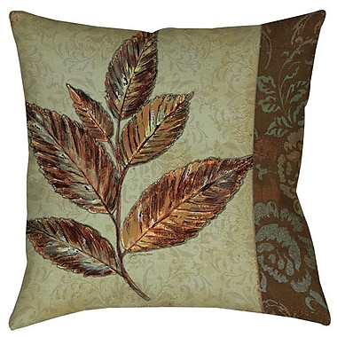 Manual Woodworkers & Weavers Golden Leaf 1 Printed Throw Pillow; 16'' H x 16'' W x 4'' D