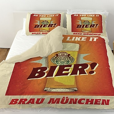 Manual Woodworkers & Weavers Bier Brau Munchen Duvet Cover; Twin