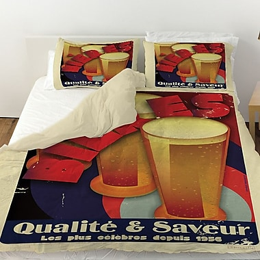 Manual Woodworkers & Weavers Bieres Qualite and Saveur Duvet Cover; Queen