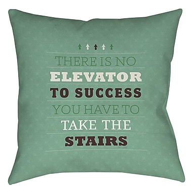 Manual Woodworkers & Weavers Take the Stairs Printed Throw Pillow; 14'' H x 14'' W x 3'' D