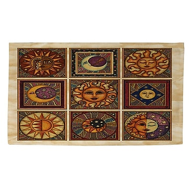 Manual Woodworkers & Weavers Celestial Squares Brown Area Rug; 4' x 6'