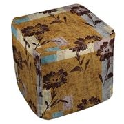 Manual Woodworkers & Weavers Floral Study in Blocks Ottoman