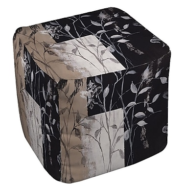 Manual Woodworkers & Weavers African Leaf Abstract Ottoman