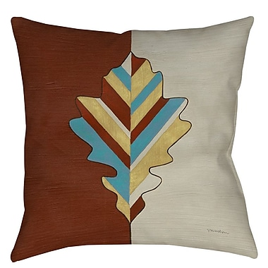 Manual Woodworkers & Weavers Apache Leaf 4 Printed Throw Pillow; 18'' H x 18'' W x 5'' D
