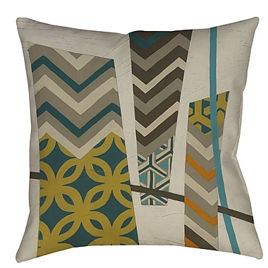 Manual Woodworkers & Weavers Abstract Scrapbook 1 Printed Throw Pillow; 26'' H x 26'' W x 7'' D
