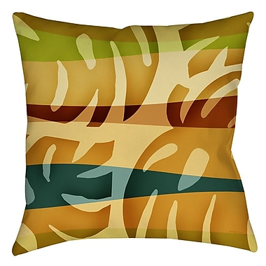 Manual Woodworkers & Weavers Tropical Leaf 1 Printed Throw Pillow; 18'' H x 18'' W x 5'' D