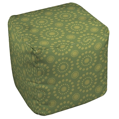 Manual Woodworkers & Weavers Tropical Breeze Patterns Ottoman; Green