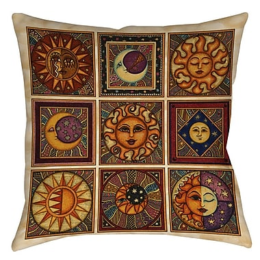 Manual Woodworkers & Weavers Celestial Squares Indoor/Outdoor Throw Pillow; 16'' H x 16'' W x 4'' D
