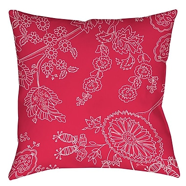 Manual Woodworkers & Weavers Anima Outline Indoor/Outdoor Throw Pillow; 16'' H x 16'' W x 4'' D
