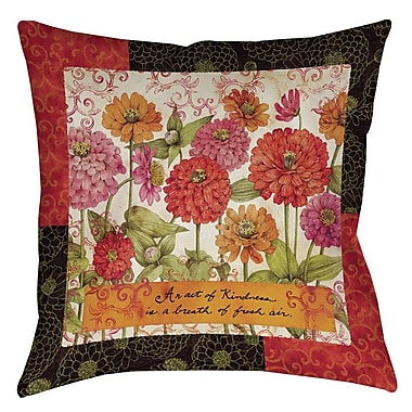 Manual Woodworkers & Weavers Zinnia Printed Throw Pillow; 18'' H x 18'' W x 5'' D