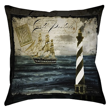 Manual Woodworkers & Weavers Timeless Voyage 2 Indoor/Outdoor Throw Pillow; 18'' H x 18'' W x 5'' D