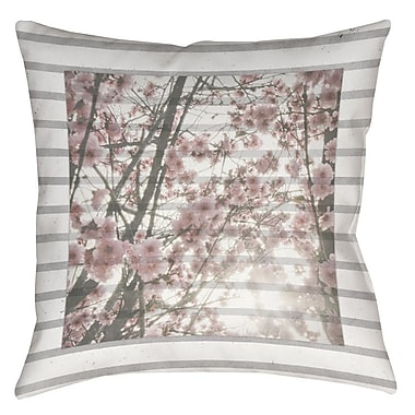 Manual Woodworkers & Weavers Cherry Blossom Stripes Printed Throw Pillow; 26'' H x 26'' W x 7'' D