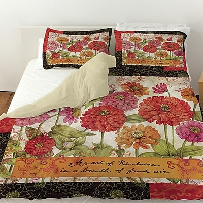 Manual Woodworkers & Weavers Zinnia Duvet Cover; King
