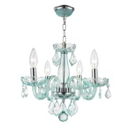 Worldwide Lighting Clarion 4-Light Semi Flush Mount; Coral Blue