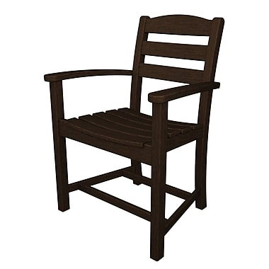 POLYWOOD La Casa Caf Dining Arm Chair; Mahogany