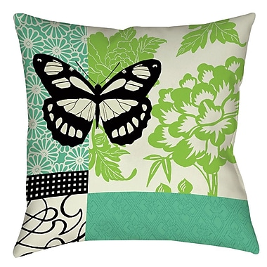 Manual Woodworkers & Weavers Butterfly Journey 2 Printed Throw Pillow; 16'' H x 16'' W x 4'' D