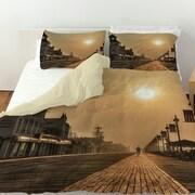 Manual Woodworkers & Weavers Boardwalk Sunrise Duvet Cover; King