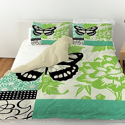 Manual Woodworkers & Weavers Butterfly Journey 2 Duvet Cover; Twin