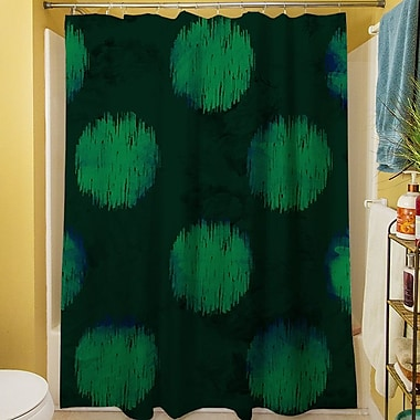 Manual Woodworkers & Weavers Big Dots Shower Curtain; Emerald