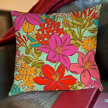 Manual Woodworkers & Weavers Main Mint Printed Throw Pillow; 16'' H x 16'' W x 4'' D