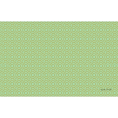 Manual Woodworkers & Weavers Woven Green Area Rug; 3'1'' x 1'10.5''