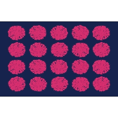 Manual Woodworkers & Weavers Pod Dots Blue Rug; 5'10'' x 4'4''