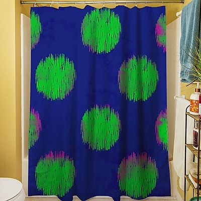Manual Woodworkers & Weavers Big Dots Shower Curtain; Bright
