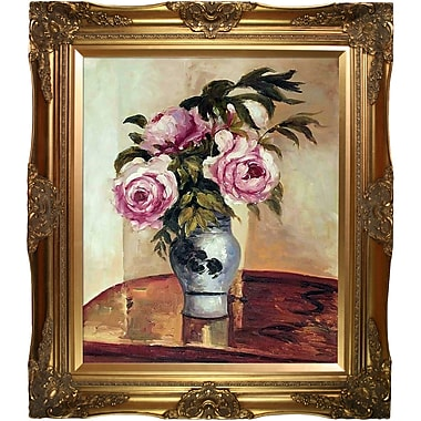 Tori Home Bouquet of Peonies by Camille Pissarro Framed Painting