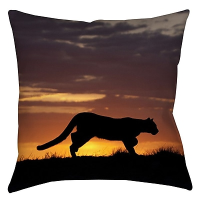 Manual Woodworkers & Weavers Cougar Silhouette Indoor/Outdoor Throw Pillow; 20'' H x 20'' W x 5'' D