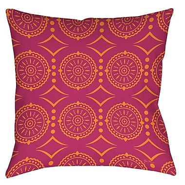 Manual Woodworkers & Weavers Banias Medallion Printed Throw Pillow; 20'' H x 20'' W x 5'' D