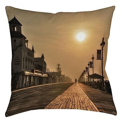 Manual Woodworkers & Weavers Boardwalk Sunrise Printed Throw Pillow; 26'' H x 26'' W x 7'' D