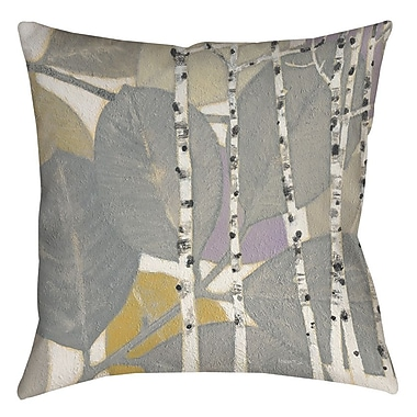Manual Woodworkers & Weavers Birch Leaf 1 Printed Throw Pillow; 26'' H x 26'' W x 7'' D
